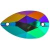 Resin Sew On Stone Galaxy 20pcs Drop 17x28mm Bermuda Blue